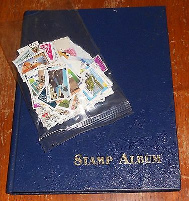 Stamp Album 16 Pages Of Mixed Australian Decimal Stamps