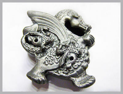 Pewter Dragon Pin Pendant, Earrings & Trinket Box - fits together as single unit