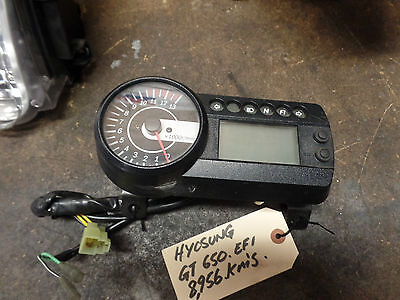 Hyosung GT650 10/09 Model Instrument Cluster, Speedo, Thaco, Dash, Gauges 8956km