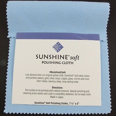 Blue Soft Sunshine Polishing Cloth Cleaner Silver Gold Brass Copper Jewellery