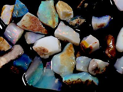 Brilliant colors 42cts Australian Crystal Opal Gem Chips,offcuts, CP/Mintabie