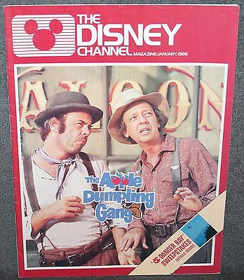 The Disney Channel Magazine The Apple Dumpling Gang January 1986