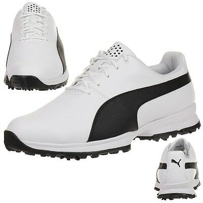 Puma Golf Grip Cleated Hombre Zapatos de Golf 188662 01 white