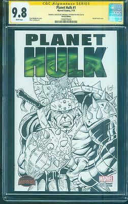 Incredible Planet Hulk 1 CGC 9.8 SS EMAN Original art Avengers Gladator Sketch