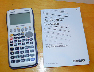 Casio Fx-9750Gii Graphing Calculator Excellent Working Condition With User Guide