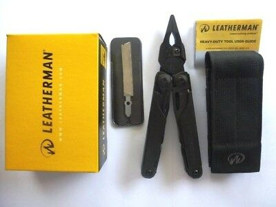 Leatherman Surge Black Multi Tool Multitool Knife+Black Molle Sheath Free Post
