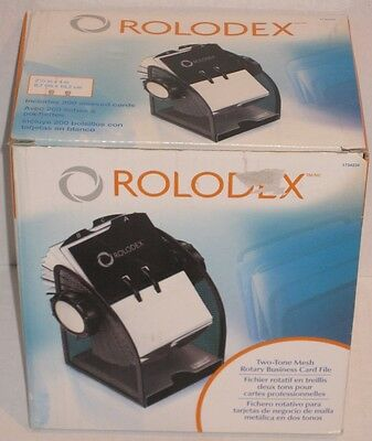 Rolodex 1734234 Two-Tone Mesh Rotary Business Card File NEW
