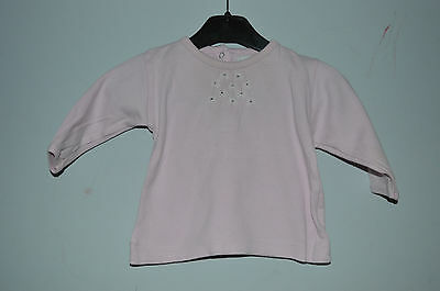 IN EXTENSO => T-shirt manches longues rose 3 mois