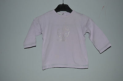 IN EXTENSO => T-shirt manches longues violet  6 mois