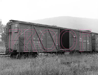 Wellsville, Addison & Galeton (WAG) Outer Braced Boxcar 5096 - 8x10 Photo