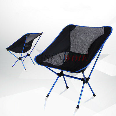 Portable Ultra Light Outdoor Folding Camping Hiking Fishing Chair Seat Bag US