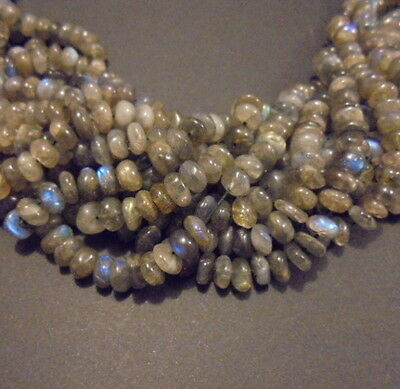 LOT de 30 PERLES PIERRE NATURELLE INDE 7 mm LABRADORITE NATURAL STONE BEADS ASIA