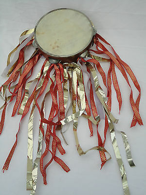 Vintage ?? Tambourine with Ribbons Collectors