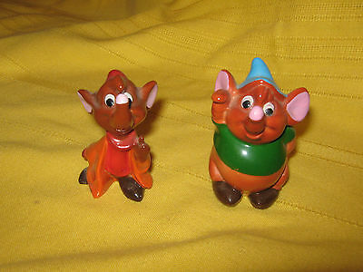 Gus and Jaq figurines from Cinderella Walt Disney Productions