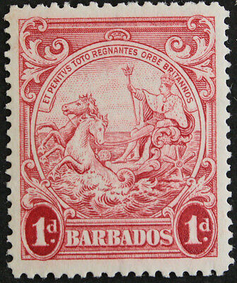 Barbados 1938 1d Scarlet perf 14 variety SG249a Mounted Mint cat value £17