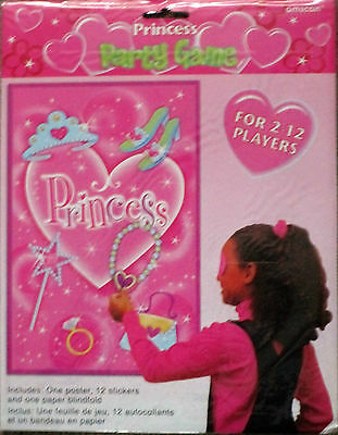 Princess Party Game 2-12 players Stick the heart on the Necklace