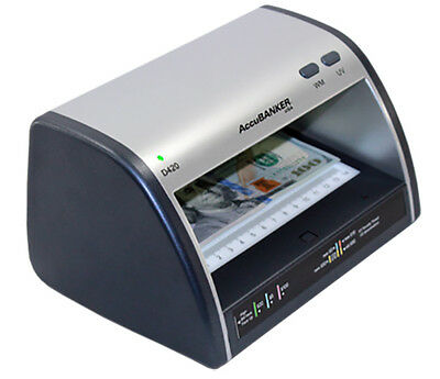 Accubanker Cash Card Counterfeit Detector LD420 LED UV NEW