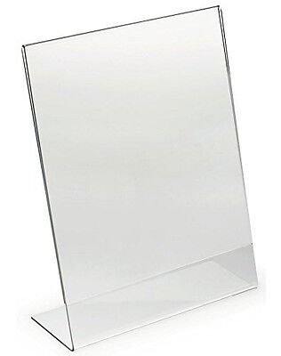 Dazzling Displays Acrylic 8.5 x 11 Slanted Sign Holders, 6 Pack