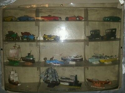 Vintage Ideal Precision Miniatures Model Store Display Cars Boats 1960s