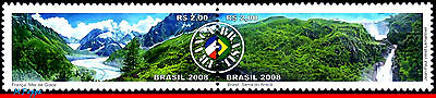 3052 Brazil 2008 Joint Issue With France, Waterfalls, Landscapes, Set Mnh