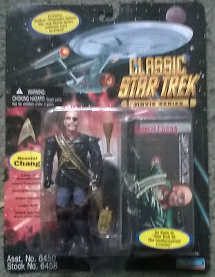classic star trek  movie figure  - general chang,mint on unopened card