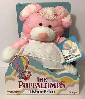 Vintage 1987 Fisher Price Puffalump Pink Mouse White Dress New In Box 8013