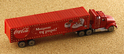 Greece Coca Cola Promotional Truck Christmas Santa Claus with Greek Text