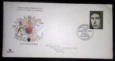 1969 Prince of Wales 21st Birthday Commemorative cover..