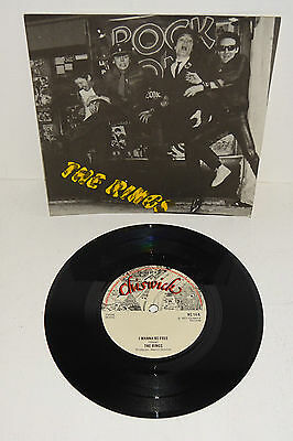"""THE RINGS I WANNA BE FREE 1977 CHISWICK 7"""" + P/S --- UNPLAYED! also Twink"""