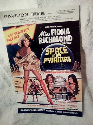 Vintage theatre poster Pavilion Theatre for the play Space in my Pyjamas.