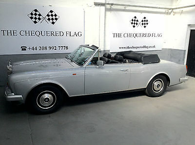 1985 Rolls-Royce Corniche Convertible Cabriolet 6900 Miles LHD EU Supplied