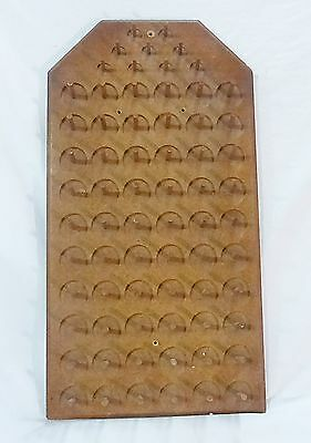 Vintage sewing thread spool particle board holder rack wall mount hold 69 spools