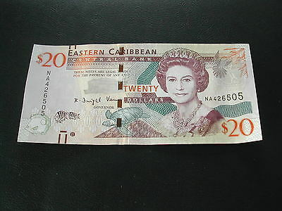 Eastern Caribbean 20 Dollars Banknote / Good Condition