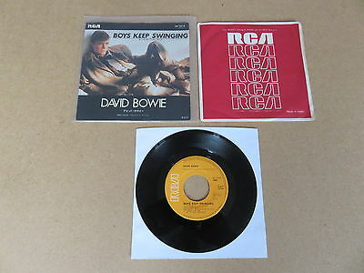 "DAVID BOWIE Boys Keep Swinging / Fantastic Voyage 7"" RARE 1979 JAPANESE SLEEVE"