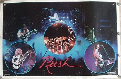 "RUSH 1979 ORIGINAL 23""x35"" WALL POSTER Rare CAT PRODUCTIONS VINTAGE"