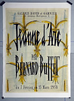 Affiche originale ancienne de 1958  - Bernard Buffet - Jeanne d'Arc