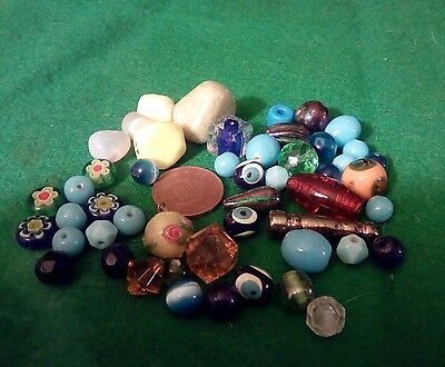 Vintage glass beads 50+
