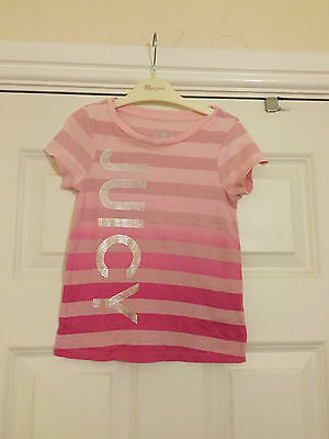 Juicy Couture girls pink t-shirt. Age 4
