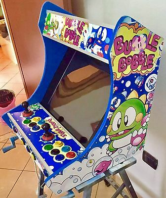 "Bubble Bobble Cabinet ARCADE BAR CLASSIC GAMES MAME 19"", 2 PLAYERS PLUG N' PLAY"