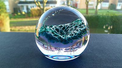 """Vintage Caithness """"wisp"""" Crystal Art Glass Paperweight Marked"""