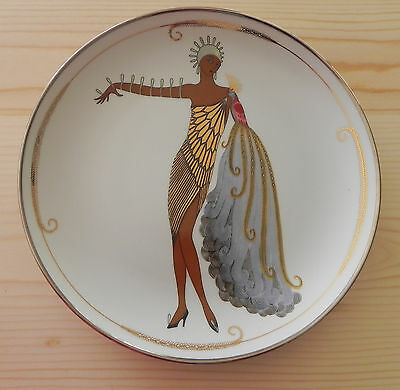 "Franklin Mint House of Erte Limited Edition DIVA II 8"" Plate No. HD4158"