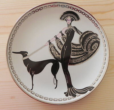 "Franklin Mint House of Erte Limited Edition Symphony in Black 8"" Plate No. J4122"
