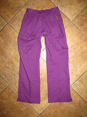 Women's Koi By Kathy Peterson Scrub Pants Purple Uniform Small
