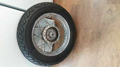 SUZUKI MARAUDER gz250 REAR WHEEL ASSEMBLY RIM , WITH NEW PIRELLI TIRE   gz-250