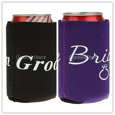 1 Pair Novelty Neoprene Can Cooler Cup Sleeve Holder Wrap Wedding Party Supplier