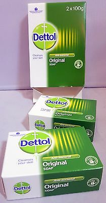 DETTOL Bar Soap ANTI BACTERIAL 100g x 2 Packs Wash Freshen Shower Bathroom