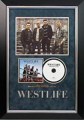 Westlife Fully Signed Greatest Hits CD Display AFTAL