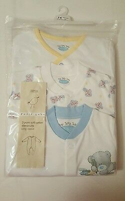 ***Tatty Teddy/ Me To You 3 Pack Sleepsuits, Size 3-6 Months, Brand New***