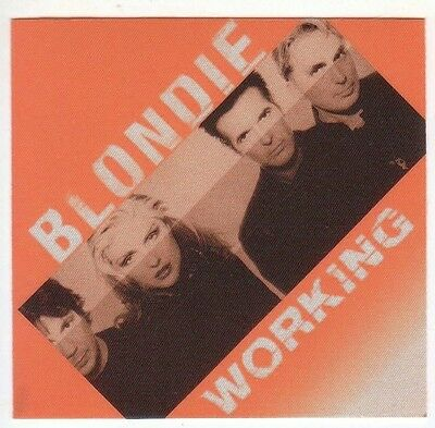 BLONDIE backstage Satin Cloth PASS tour collectible WORKING