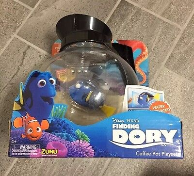 Disney Finding Dory Robo Fish Water Activated Toy - Coffee Pot Playset.